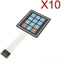C.J. SJOP 10PCS 4 x 3 Matrix Array 12 Key Membrane Switch Keypad Keyboard for Arduino/AVR/PIC