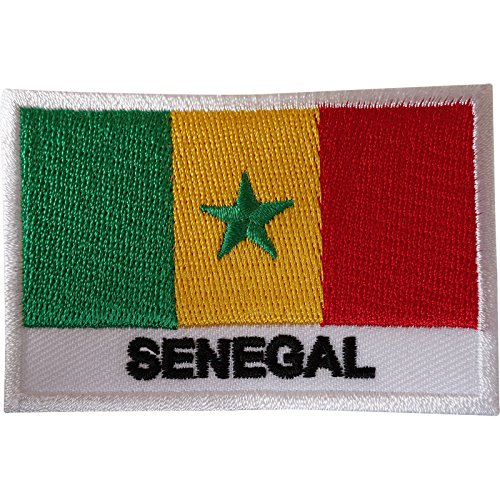 Senegal-Flagge, Aufnäher, für Kleidung, Jacke, Tasche, Afrika, afrikanisch, bestickt