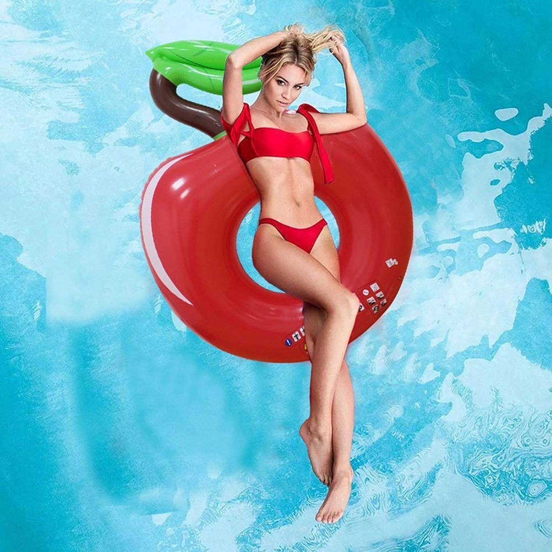 Swim Party Toys Radeau Gonflable Adulte Enfant 's Water Pomme Gonflable Piscine Annulus Eau Lit Flottant Flottant à la Dérive Rangée sous L'Anneau, oren_fFaibleer