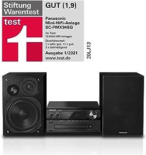 Panasonic - Sistema Micro HiFi (120 Watt RMS, radio digitale DAB+, CD, radio FM, Bluetooth, USB, AUX), colore: Nero, SC-PMX94EG-K single Nero