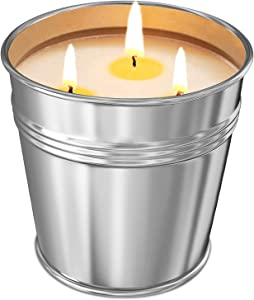 Perkisboby Citronella Candle, Garden Citronella Candles Outdoor with 3 Wick Scented, 100 Hours Burning, 100% Natural Soy Wax Indoor Candles Set, Candles Gifts for Women, Birthdays, Parties- 17 Oz