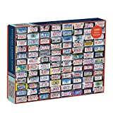 """Galison Nantucket License Plates Puzzle, 1,000 Pieces, 20"""" x 27"""" – Jigsaw Puzzle Featuring a Collage of License Plate Photographs – Thick, Sturdy Pieces, Challenging Family Activity, Great Gift Idea"""