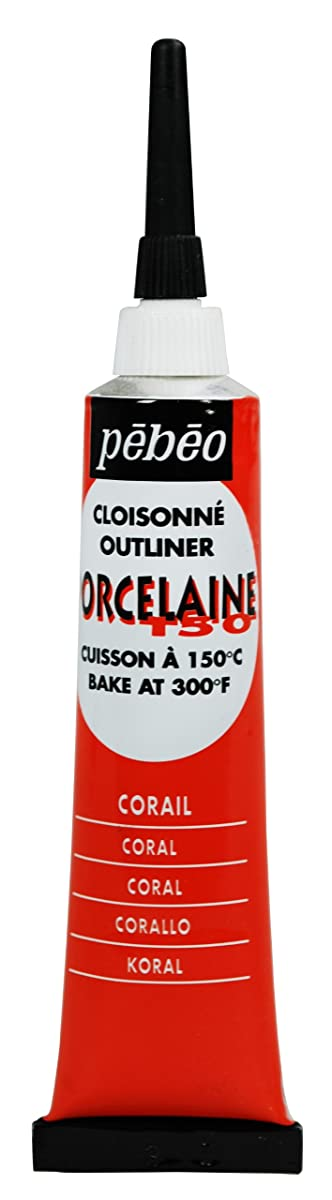 PEBEO 036-002 Porcelaine 150, China Paint Outliner, 20 ml Tube - Coral