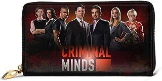 Lsjuee Criminal TV Minds Portafoglio in vera pelle Portafogli lunghi con borsa con cerniera