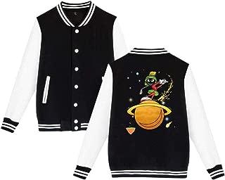BBABC Marvin The Martian Planet Mens & Womens Funny Hoodie Baseball Uniform Jacket Sport Coat Black