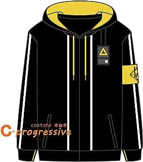 「C.progressive」 ドールズフロントライン(ドルフロ) UMP9 コスプレ 衣装 コート スウェット スエードバーカー (服装, XL)