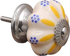 Deurgrepen Kast Handgrepen 5 STKS Klassieke Keramische Vintage Pompoen Pull Handvat Deurknoppen voor Badkamer, Kast Knoppe...