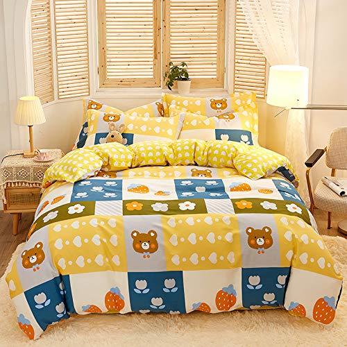 ALRZ Sábanas de cama: juego de sábanas bajeras familiares suave que te ofrece un buen sueño