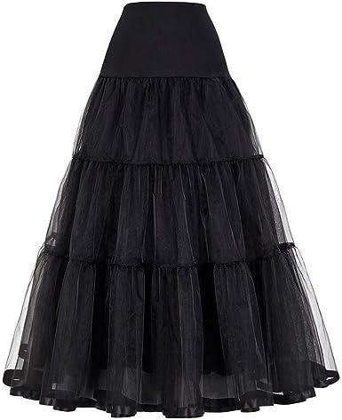 Haucalarm Falda de tul para mujer, falda larga de boda en ...