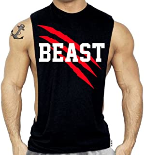 SR New Beast Muscle Shirt Workout Bodybuilding Sleeveless Tshirt
