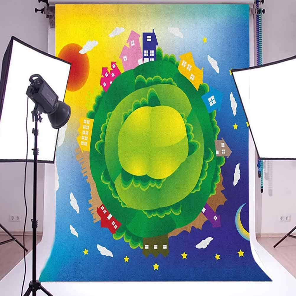 8x12 FT Vinyl Photography Background Backdrops,Cinematography Themed Artwork with Old Camera and Equipment Silver Screen Background for Child Baby Shower Photo Studio Prop Photobooth Photoshoot