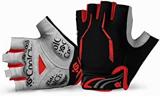 Cool Change Cycling Gloves Mountain Bike Gloves SBR Pad Shockproof | Anti- Slip | Breathable Gloves Half Finger Bicycle Gloves for Men Women