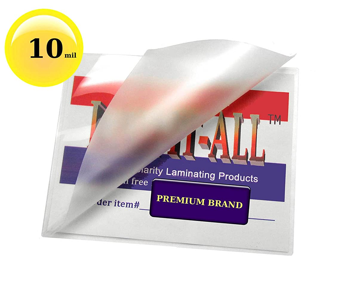 LAM-IT-ALL Premium 10 Mil Letter size Hot Laminating Pouches 9 x11-1/2 (Pack of 50) Clear