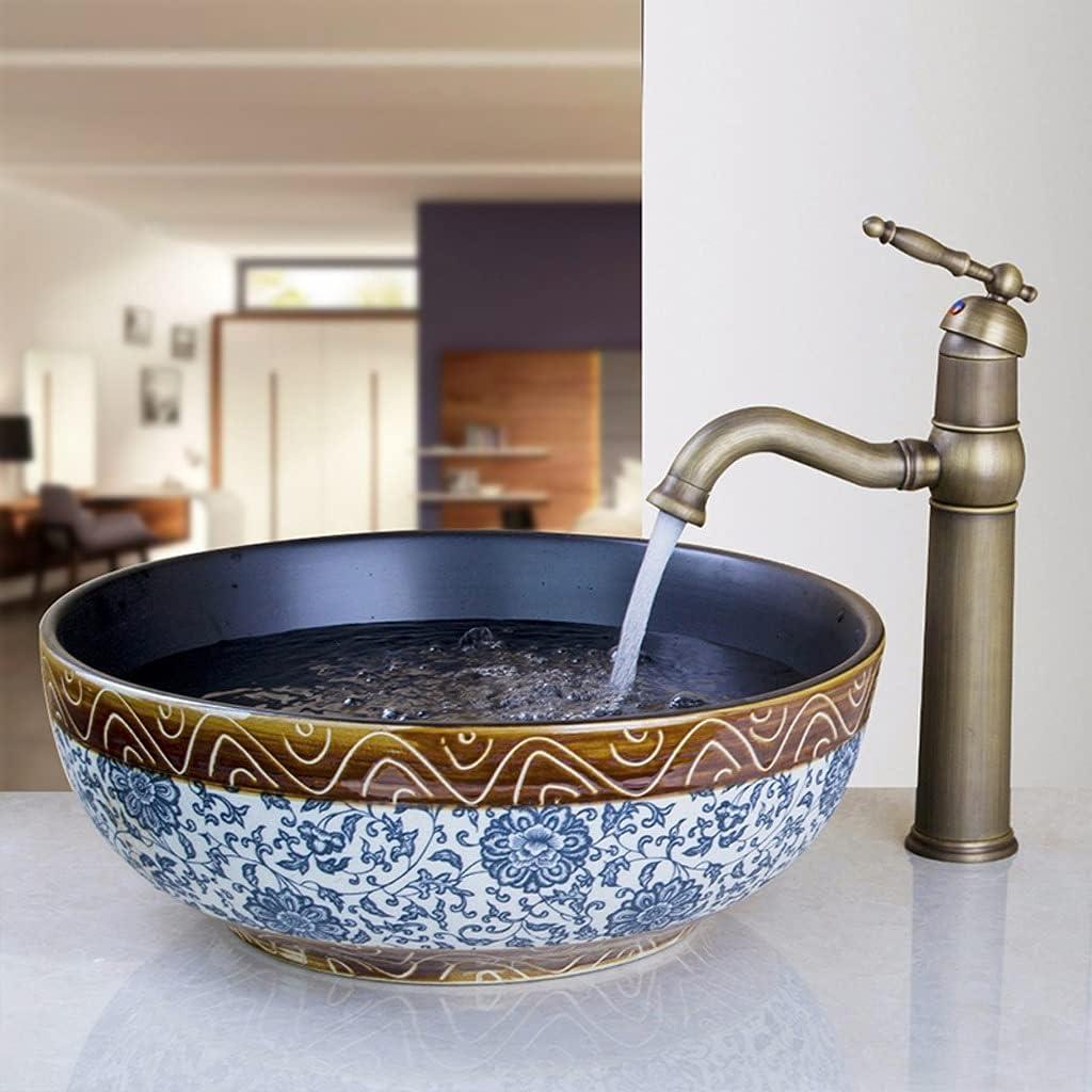 AEBDF Ceramic Wash Basin Faucet Set Round Bathroom Sink Minneapolis Mall New York Mall