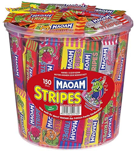 Haribo Maoam Stripes, Dose, 2er Pack, (2 x 1050g)
