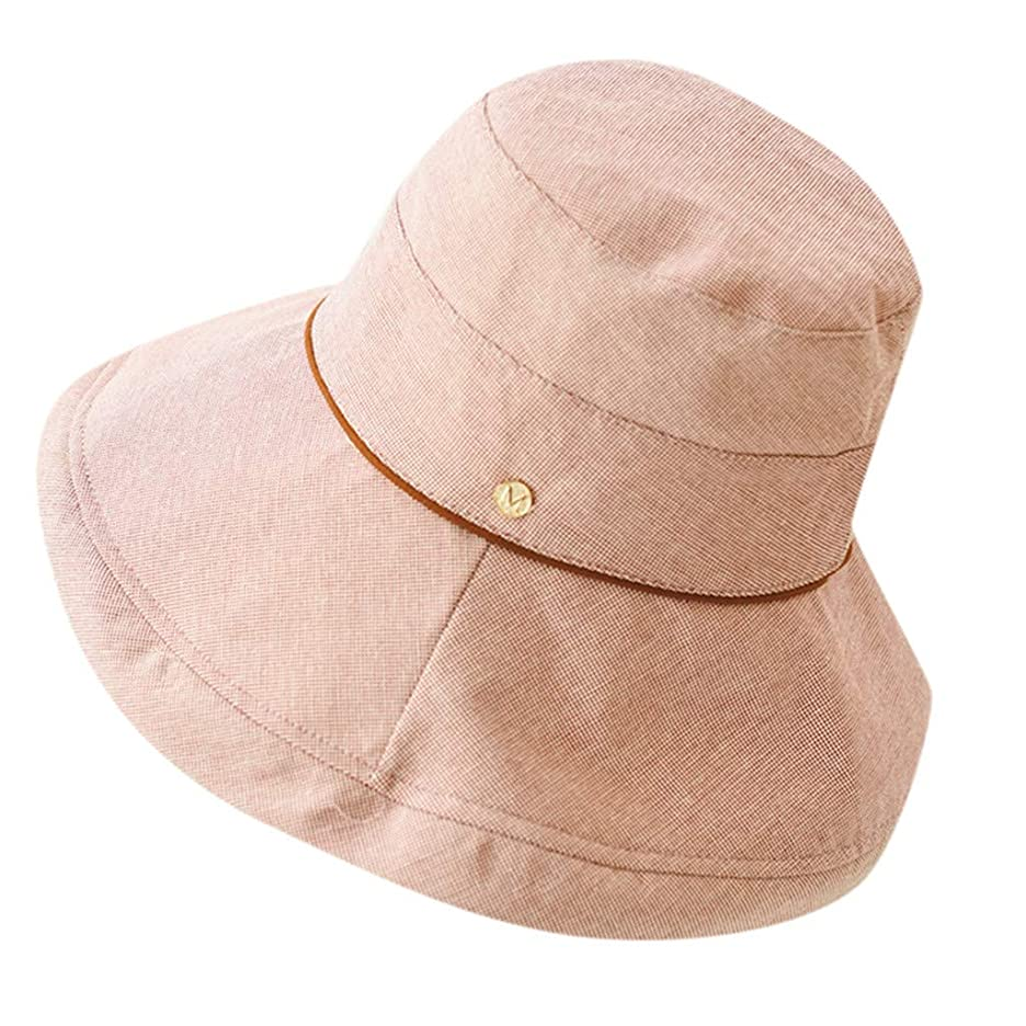 適用済みトーナメント悪の漁師帽 レディース UVカット帽子 つば広 ハット 綿 ハット 帽子 つば広 日焼け止め 日よけ ハット レディース 紫外線対策 漁師の帽子 可愛い 小顔効果 帽子 折りたたみ可 キャップ吸水速幹 キャップ 黒 ROSE ROMAN