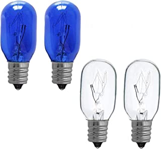 20W Mirror Replacement Incandescent Bulbs for Double Sided Illuminated Mirror,Type T Bulb,4-Pack