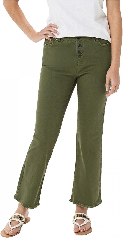 Peace Love World Women's Plus Size Garment Dyed Button Front Jeans. A353696