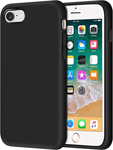 Anuck iPhone SE 2020 Case, iPhone 8 Case, Non-Slip Liquid Silicone Gel Rubber Bumper Case Soft Microfiber Lining Hard...