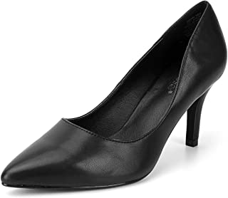 Women's Synthetic Leather Pump Shoes Pointed Toe