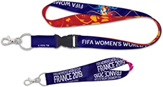 WinCraft FIFA Women's World Cup Soccer France 2019 Gift Set: 1 Premium Lanyard and 1 Key Strap Key Chain