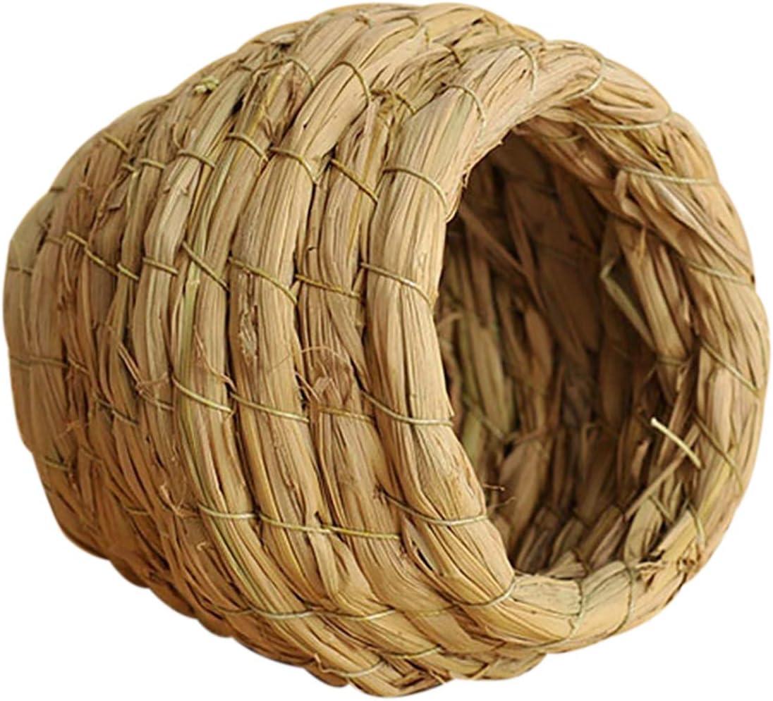 Fashionable homeemoh Handmade Straw Bird Max 67% OFF Nest Birdhouse Woven Natural Parro