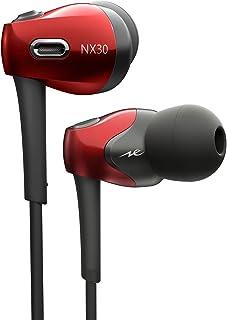 ラディウス radius HP-NX30 ハイレゾ対応イヤホン : NeEXTRAシリーズ FLW構造ドライバー搭載 ハイレゾ 高音質 有線 カナル型 イヤフォン HP-NX30R (レッド)