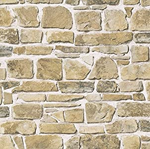 RT 265606 Rasch - Papel pintado para pared, diseño de piedra, multicolor