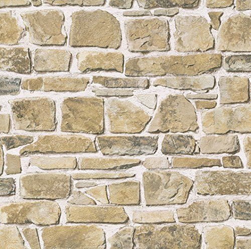 Rasch Tapeten 265606 PapierTapete Rasch Kollektion Steine & Hölzer, braun
