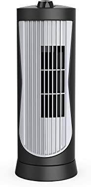 SLENPET Small Tower Fan, Oscillating Quiet Cooling Fan, 13 Inch 2 Speeds, 2 Modes Settings, Portable Rotating Stand Table Fan
