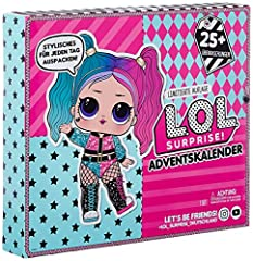 Unbox 25+ Surprises with L.O.L. Surprise! #OOTD Outfit of the Day. Perfect gift to countdown to Christmas – unbox 1 surprise every day. Includes Limited Edition L.O.L. Surprise! doll - Tricksta B.B. Unbox Tricksta B.B.'s 24 exclusive L.O.L. Surprise!...