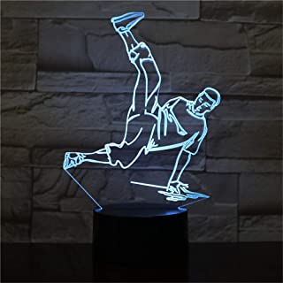 Street Dance LED USB 3D Night Lights 7 Colors LED 3D Lamp Decoration Lights Hip-Hop Culture Breaking Locking Popping AW-25...