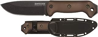 Ka Bar BK2FDE BK2 Becker Campanion FDE Handle Hard Black Sheath, Brown