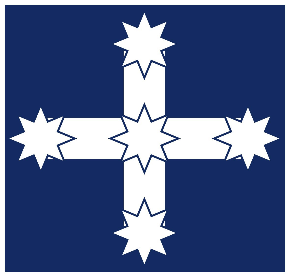 AUSTRALIAN EUREKA FLAG DECALSTICKER100mm x 65mmSTOCKADEAUSSIEPRID