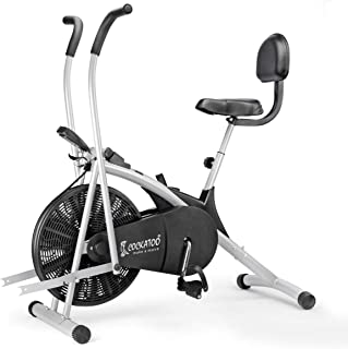 Cockatoo AB06WBC Stainless-Steel Indian Exercise Bike for Home Gym with Moving Handle, Back Support and Adjustable Cushion...