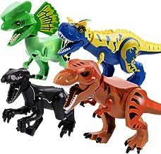 Alpacasso 4 PCS Large Size Dinosaur Building Block Toys, Jurassic Dinosaur Building Blocks Figures Toys for Boys, Including Tyrannosaurus Rex, Velociraptor, Dilophosaurus, Carnotaurus