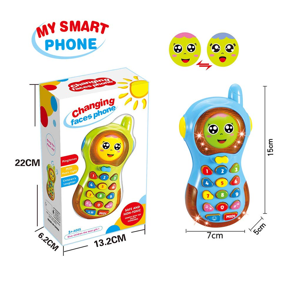 Toy For 9 Months Old Baby Musical Toys For 1 2 Year Old Baby Gift For 10 18 Months Old Toddler Boys Learning Toy Phone For 5 9 Months Baby Birthday Gift For Son Girl