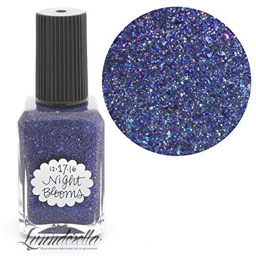 Lynnderella Limited Edition Christmas Advent Nail Polish Navy Blue Shimmerella—December 17-Night Blooms