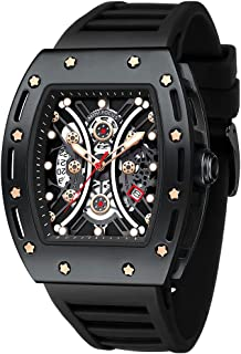 Watch for Men FILIEKEU Wristwatch Fashion Hollow Big Dial Luminous Waterproof Sport Analog Quartz Business Mens Watches Si...