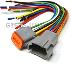 Deutsch DT 8-pin Pigtail Kit, 16AWG NMMA ABYC USCD Certified Boat RV Wire, 600V, Made in USA