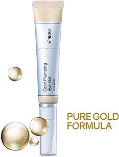 Gold Eye Gel Cream, Brightener with Hyaluronic Acid to Reduce Dark Circles, Wrinkles, and Bags Around Eyes