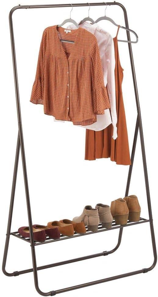 mDesign 公式サイト Garment Rack ファッション通販 Portable Tall with Vertical Storage Unit