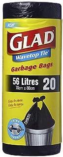 Glad Wavetop Tie Garbage Bags,  20 count