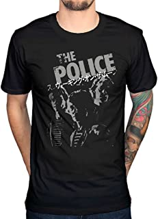 AWDIP Men's Official The Police Japanese T-Shirt Rock Band Sting Punk Jazz Band