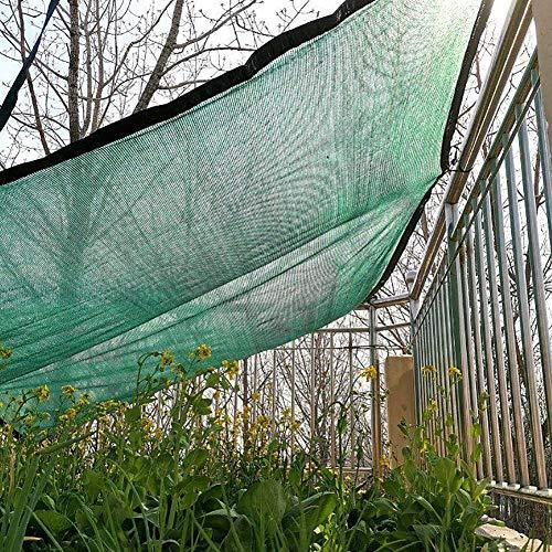 HWL Red de Sombra Patio Al Aire Libre Jardín Sun Shade Sail, Paño de Sombra Espesante con Ojales, para Cubiertas de Plantas de Invernadero para Piscinas (Size : 4×4m)
