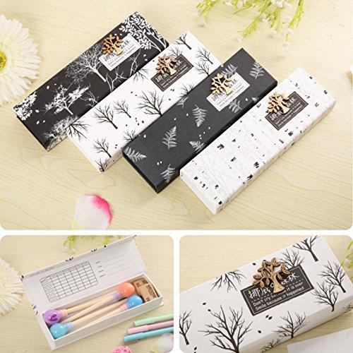 Generic tipo 2: Nuevo Japón papelería Cute Árbol patrón papelería papel casos lápiz Casos Caja de almacenamiento para escuela estudiante 4diseño v3858