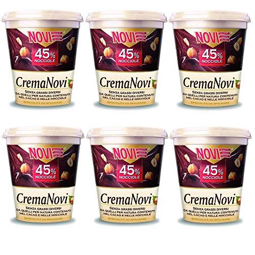 NOVI Multipack 6 Pezzi Crema Spalmabile 45% Nocciole Grammi 200 Snack Dolce
