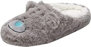 Dainzuy - Zapatillas de casa de Forro Polar con Espuma viscoelástica para Interior y hogar, de Felpa, de algodón, Antideslizantes, para Mujer