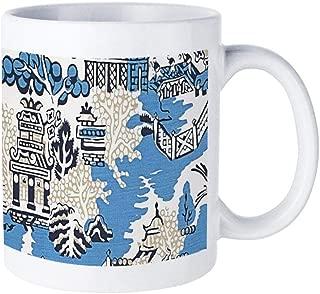 Blue & White China Blue Willow40 60Mug Coffee Cup Teacup Ceramic Cup Couple Cup Restaurant Dessert Shop Cafe Home Mug
