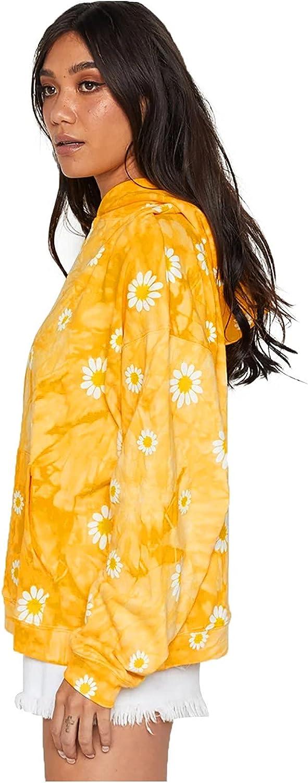 Womens Daisy Tie-dye Graffiti Atlanta Mall Cheap sale Hoodie Long Wi Tops Sleeve Fashion